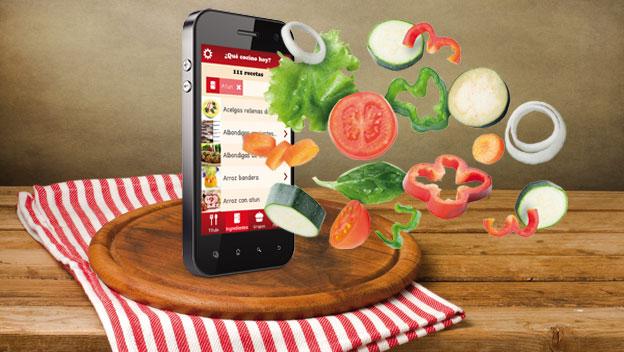aplicaciones para hacer comidas con ingredientes